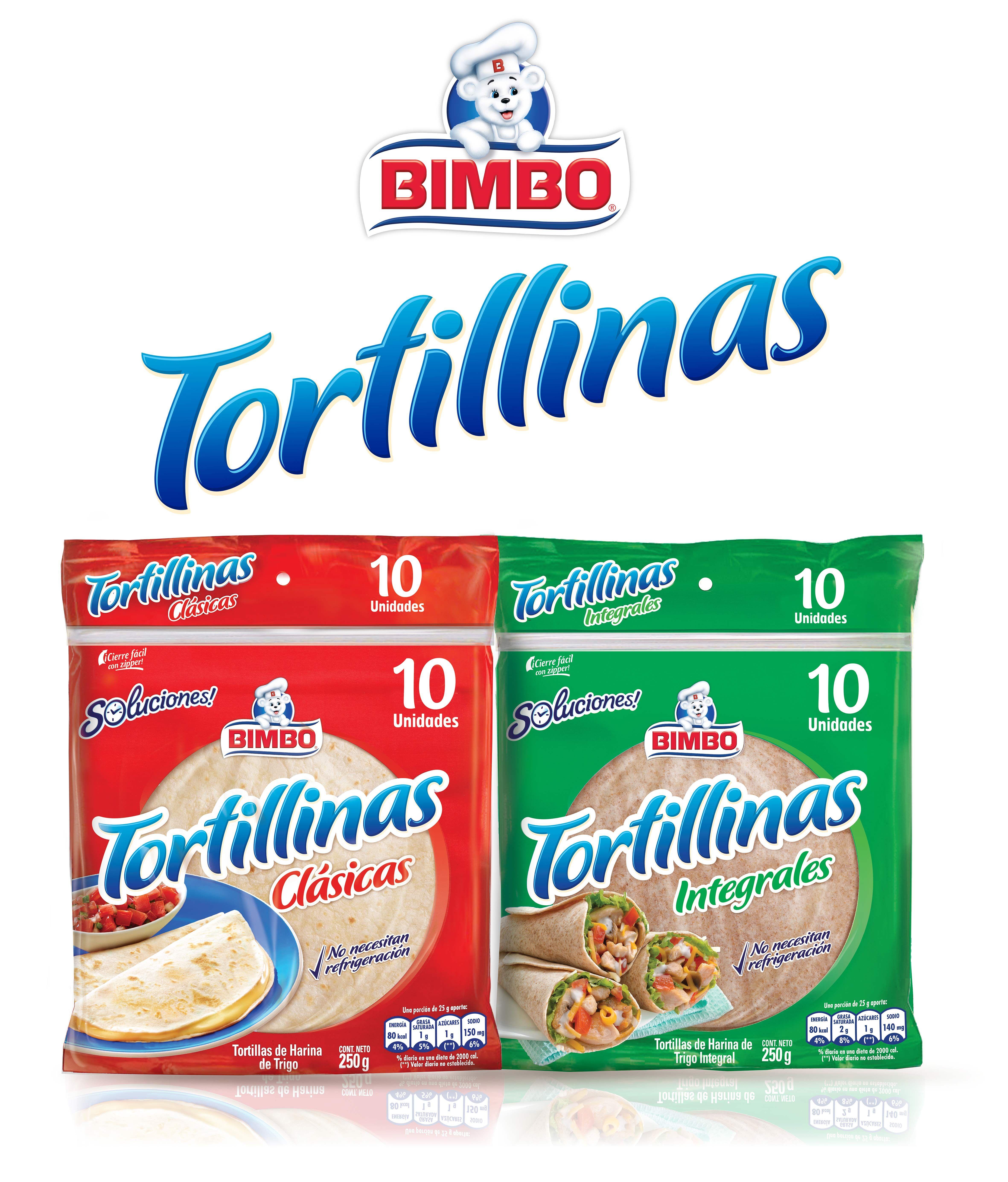 BIMBO TORTILLINAS LA PROPUESTA MÁS PRÁCTICA, VERSÁTIL Y NUTRITIVA